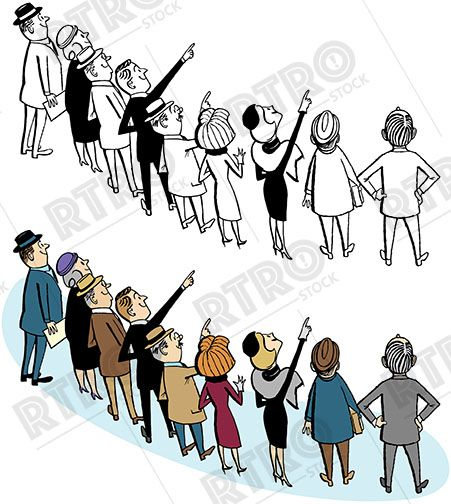 People Pointing Clip Art Stock Images Free Cartoon