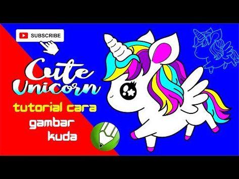 Tutorial Cara Gambar Kuda Poni Unicorn Sangat Imut Youtube Gambar Kuda Cara Menggambar Kuda
