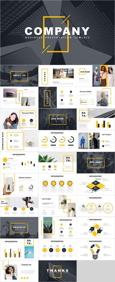 Yellow company report presentation template