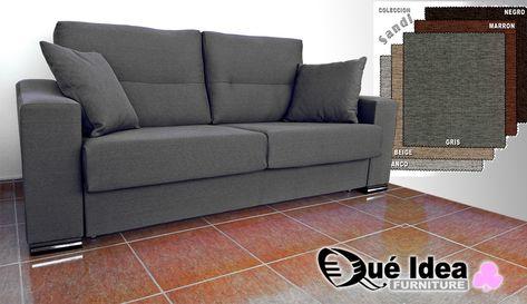 Sofa Tres Plazas.Sofa Cama Sistema Italiano Tres Plazas Tapizado Color Gris