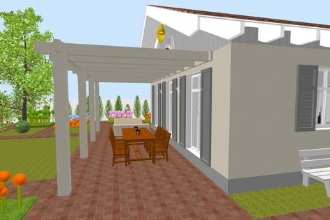 Sweet Home 3D, Sweethome3d, Pergola Sweet Home 3D Pinterest