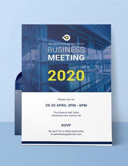 Business Meeting Invitation Template Elegant 68 Meeting Invitation