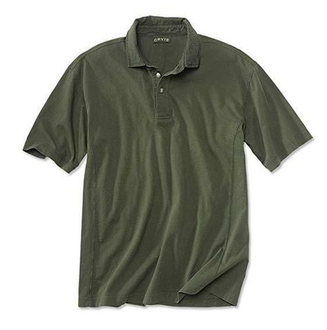 Mens Orvis Montana Morning Polo Shirt Blue Rugby Cotton Collared NWT XXL Soft