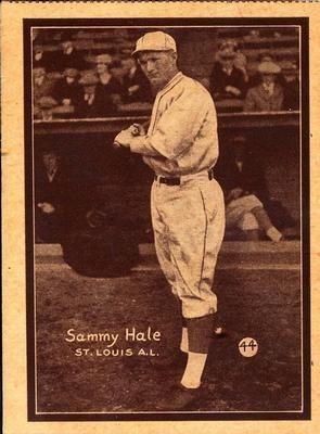 1931 W517 44 Sammy Hale Front Vintage Baseball Baseball Cards Hale