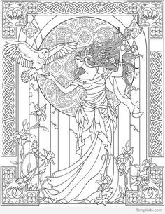 image regarding Printable Wiccan Coloring Pages named Graphic outcome for free of charge wiccan coloring web pages grownup coloring