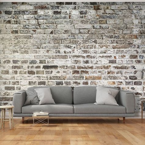 Papier Peint Deco Effet Mur De Briques En 2019 Papier