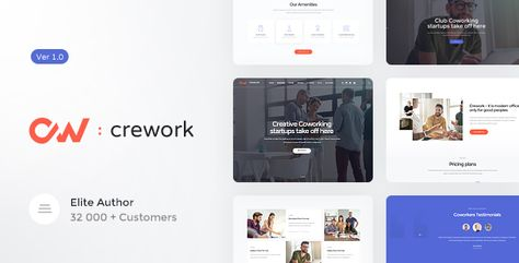 Coworking and Creative Space WordPress Theme 1.1.5 Crework powerful, refined & contemporary WordPress Theme. It is designed for co-working, open office firm and creative space agency, workshops... #axiomthemes #calendar #conference #meeting #office #themeforest #workshop #agency #business #events #corporate #creative #responsive #startup