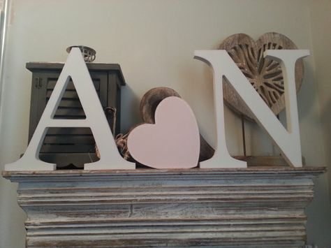 Set of 2 Wooden Letters and a Love Heart  various by LoveLettersMe, £26.00
