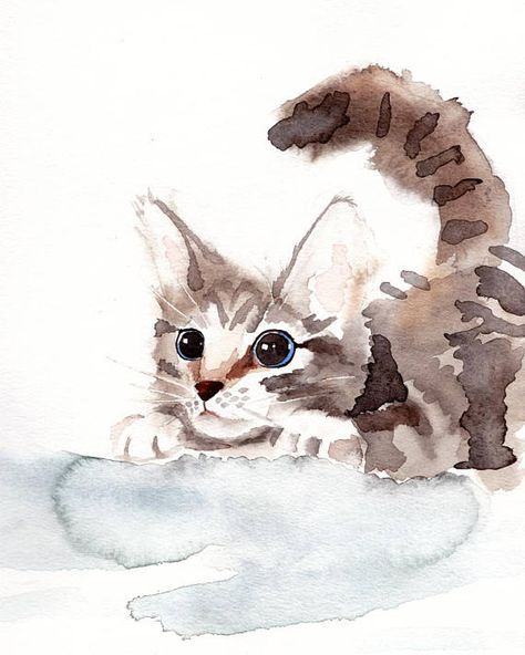 54 Ideas Cats Drawing Cute Watercolor Painting For 2019 In 2020