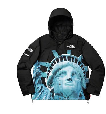 Supreme North Face Statue Of Liberty Mountain Jacket Black Size Medium In Hand North Face Mountain Jacket Mountain Jacket The North Face
