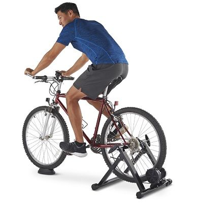 The Indoor Cycling Conversion Stand Clamps To A Bicycle S Rear Wheel To Allow Indoor Riding In 2020 Indoor Cycling Indoor Bike Bicycle