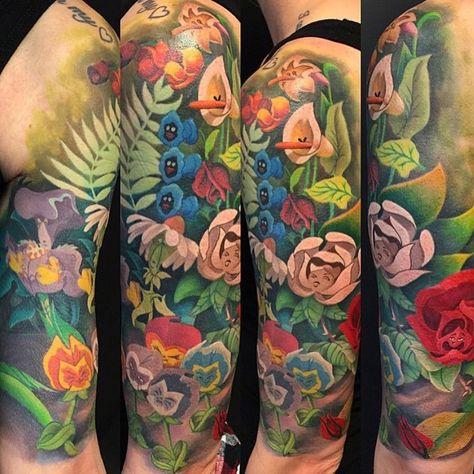 Alice In Wonderland Sleeve Tatoooooos Pinterest Tatuajes