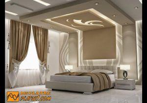 Plafond Salon Le Plafond Moderne Dans La Chambre A Coucher ...
