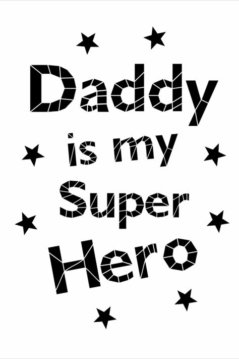 Daddy Superhero cut files svg, ai, eps, png, pdf, jpg. For Cricut and Silhouette.