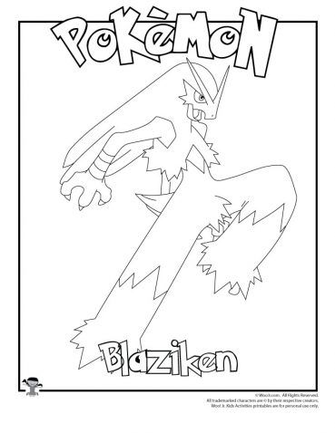 Blaziken Coloring Page Coloring Pages Pokemon Coloring Pages