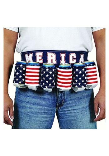 Merica Patriotic Beer Belt   Patriotic beer, Beer sleeve, Belt