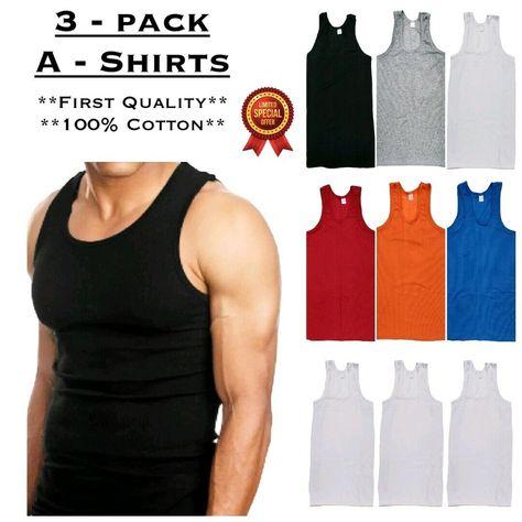 LOT 3 PACK PRO CLUB SLEEVELESS T SHIRTS MEN/'S HEAVYWEIGHT MUSCLE TANK TOP WHITE