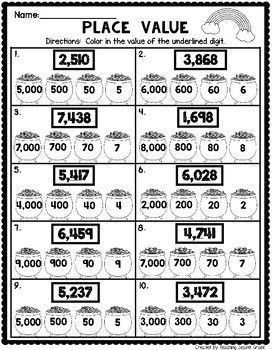 March Math Worksheets For 2nd Grade Math Worksheets March Math 2nd Grade