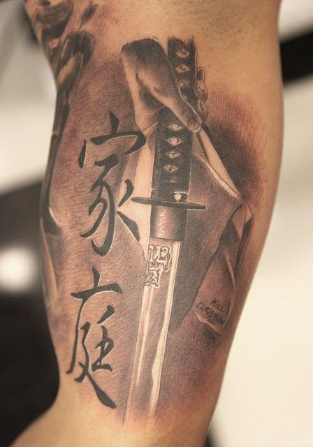 Vtattoo Mayo 2012 Sword Tattoo Samurai Tattoo Japanese Tattoo