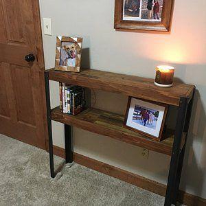 Repurposed Pallet Wood Desk With Drawer And Metal Legs Wood