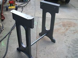 CAST IRON LEGS/BASE Lathe/Press Machine Age/Steampunk/Repurpose/Antique/ Table | Machine Age, Lathe And Repurpose