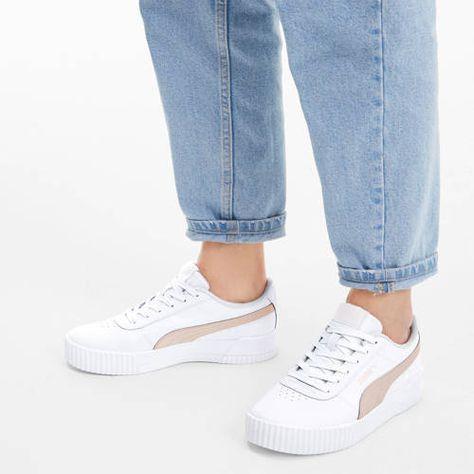 Puma Carina L sneakers wit/roze - Nieuwe mode, Rozen en ...
