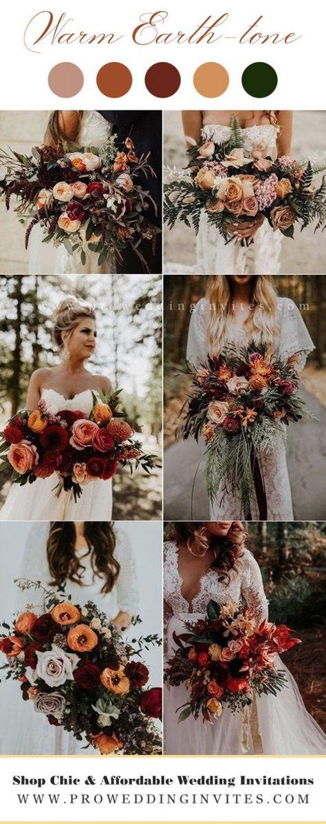 Burnt Orange Weddings, Orange Wedding Flowers, Fall Wedding Bouquets, Fall Wedding Colors, Floral Wedding, Bridal Bouquets, Bohemian Wedding Flowers, Rustic Bohemian Wedding, Fall Wedding Themes