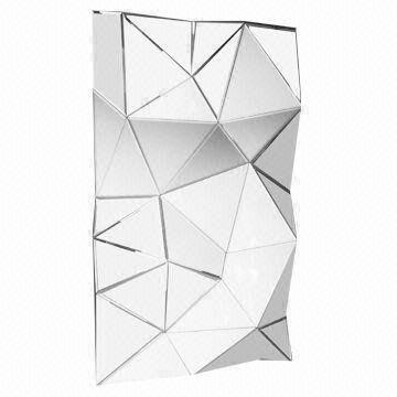 Geometric Decorative Frameless Wall Mirror Global Sources Large Detailed Venetian Frameless Wall Mirror Dressing Led In 2020 Mirror Wall Long Walls Mirror Wall Decor