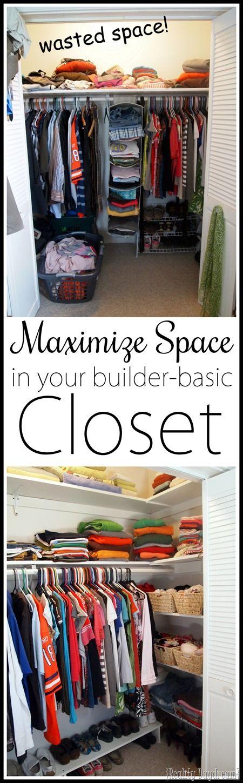 Best 25+ Maximize Closet Space Ideas On Pinterest | Small Closet Storage,  Small Closet Space And Organizing Small Closets