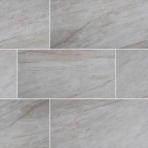 Trafficmaster Vigo Gris 12 In X 24 In Matte Ceramic Floor And Wall Tile 16 Sq Ft Case Nhdvigri1224 The Home Depot Ceramic Floor Floor And Wall Tile Wall Tiles