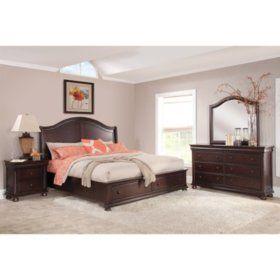 Hilda Storage Platform Bed Set Assorted Sizes Dormitorios