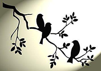 Resultado De Imagen Para Stencil De Arboles Con Pajaros Stencil De Pajaro Pajaro Silueta Silueta De Aves
