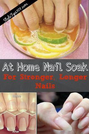 At Home Nail Soak Nail Soak Diy Nails Soak How To Grow Nails