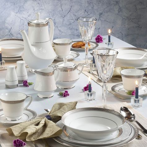 Crestwood Platinum In 2020 Tea Pot Set Entertainment Room Noritake