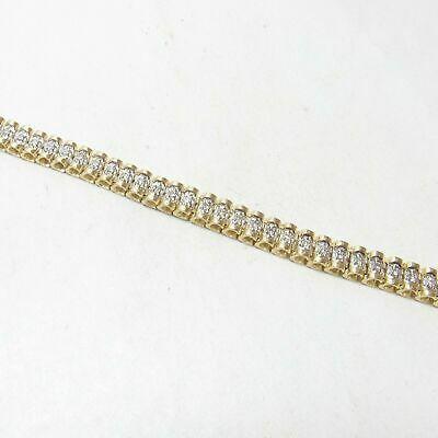 Ebay Advertisement 10 Ct Heavy Estate 14k Yellow Gold Over Brilliant Diamond Tennis Men Bracelet 8 Bracelets For Men Diamond Tennis Bracelet Diamond