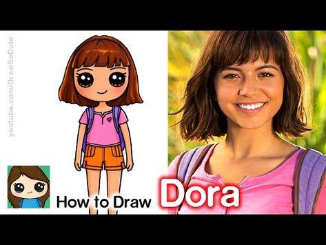Draw So Cute Youtube Cute Disney Drawings Cute Kawaii Girl Cute Girl Drawing