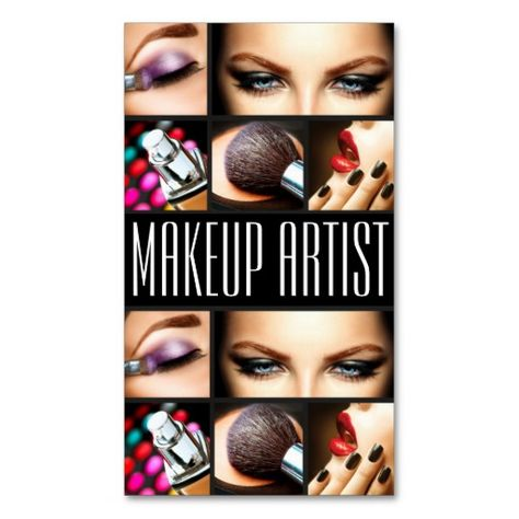 Shop Makeup Artist Cosmetologist Nails Beauty Salon Business Card created by ArtisticEye.