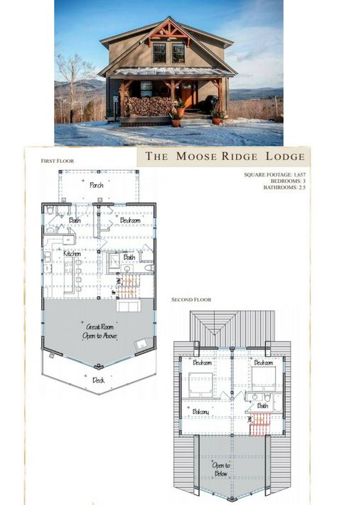 Moose Ridge Lodge Yankee Barn Homes Barn House Design Barn House Plans