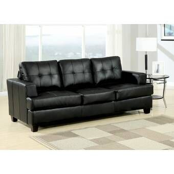 Sabine 43 31 Armless Sofa Bed Black Leather Sofa Bed Black Leather Sofas Leather Sleeper Sofa