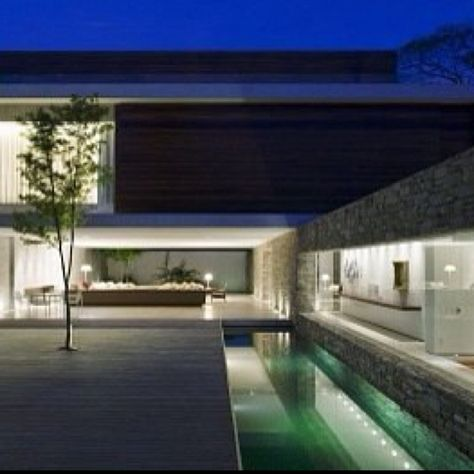 House M Stylish Houses Modern Architecture Contemporary Stone House 2 |  1450 BJ | Pinterest | Stone Houses, Modern Architecture And Architecture