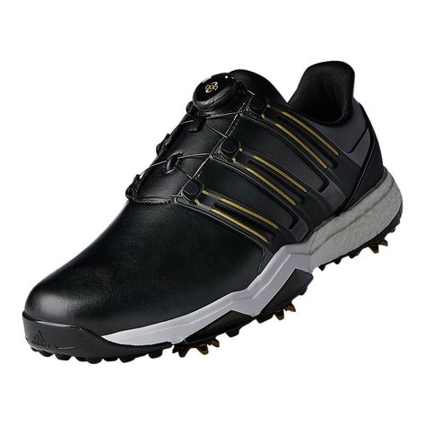 Adidas Golf Men S Powerband Boa Boost Golf Shoes Black Gold