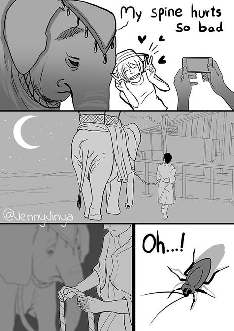 Artist Who Made People Cry With Her 'Good Boy' And 'Black Cat' Comics Is Back, And This Time It's About Elephants | Bored Panda