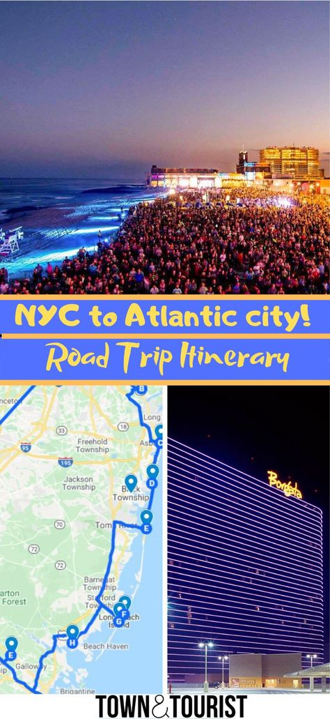 New York To Atlantic City Road Trip Itinerary Via Townandtourist In 2020 Trip Road Trip Itinerary Road Trip