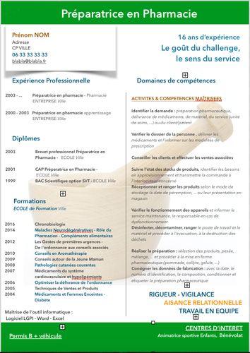 Resultat De Recherche D Images Pour Cv Avec Competences Transversales Experience Professionnelle Preparatrice En Pharmacie Lettre De Motivation