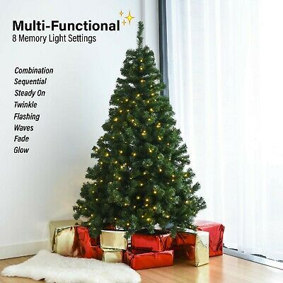 Details About Artificial Pre Lit Christmas Tree S 6ft 7ft Xmas Tree With Bushy Branches Pre Lit Christmas Tree 7ft Christmas Tree Xmas Tree