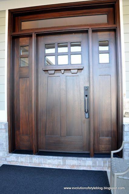 Beautiful Craftsman Style Front Door Interior Door And Window Stain Craftsman Front Doors Craftsman Style Front Doors Craftsman Door