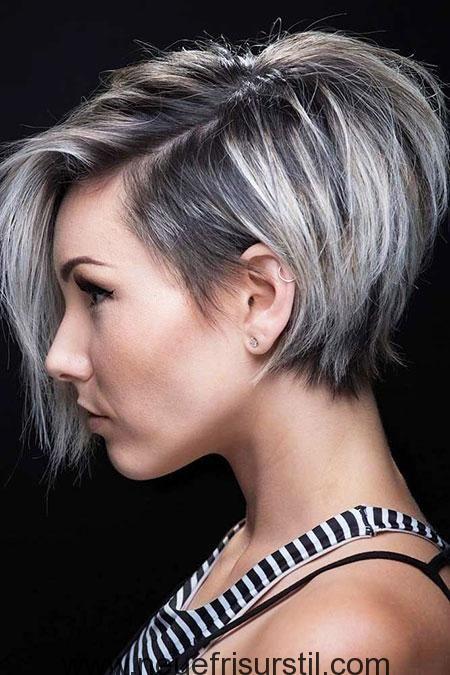 Pixie Bob Haare Und Graue Haare Haarschnitt Ideen Kurzhaarfrisuren Pixie Haarschnitt
