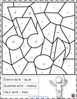 Music Color by Music Note Coloring Page: Free Music Activity ...