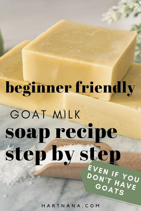 If you've ever wanted to make homemade soap, this is your recipe. Super easy step by step method for making goats milk soap from scratch. And a secret method I use to keep my milk from burning and making brown soap.