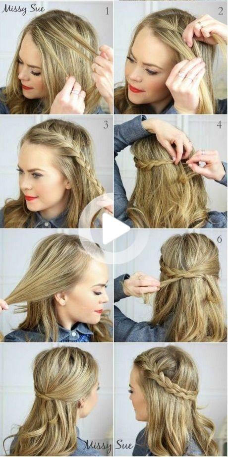 Einfach Schnell Haar Lange Mittellange Haare Frisuren Einfach Hochzeitsfrisuren Lange Haare Lange Haare